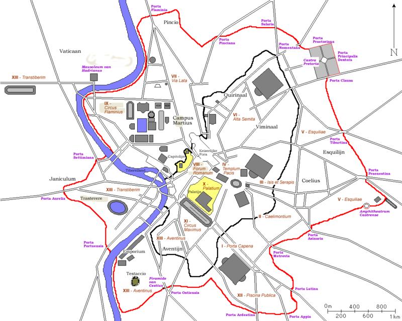 Aurelian Wall Map